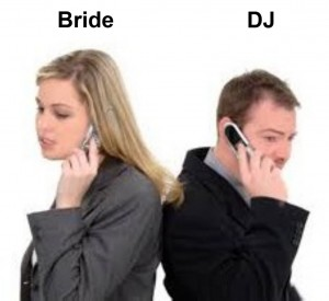 Bride and DJ